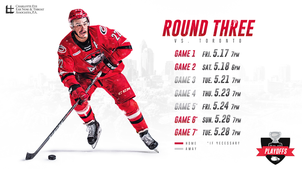 Charlotte Checkers Round 3 Playoff Schedule