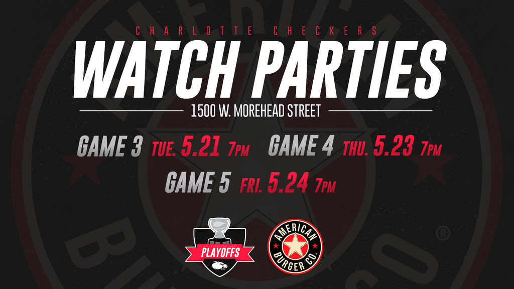 Charlotte Checkers Watch Parties at the Burger Company