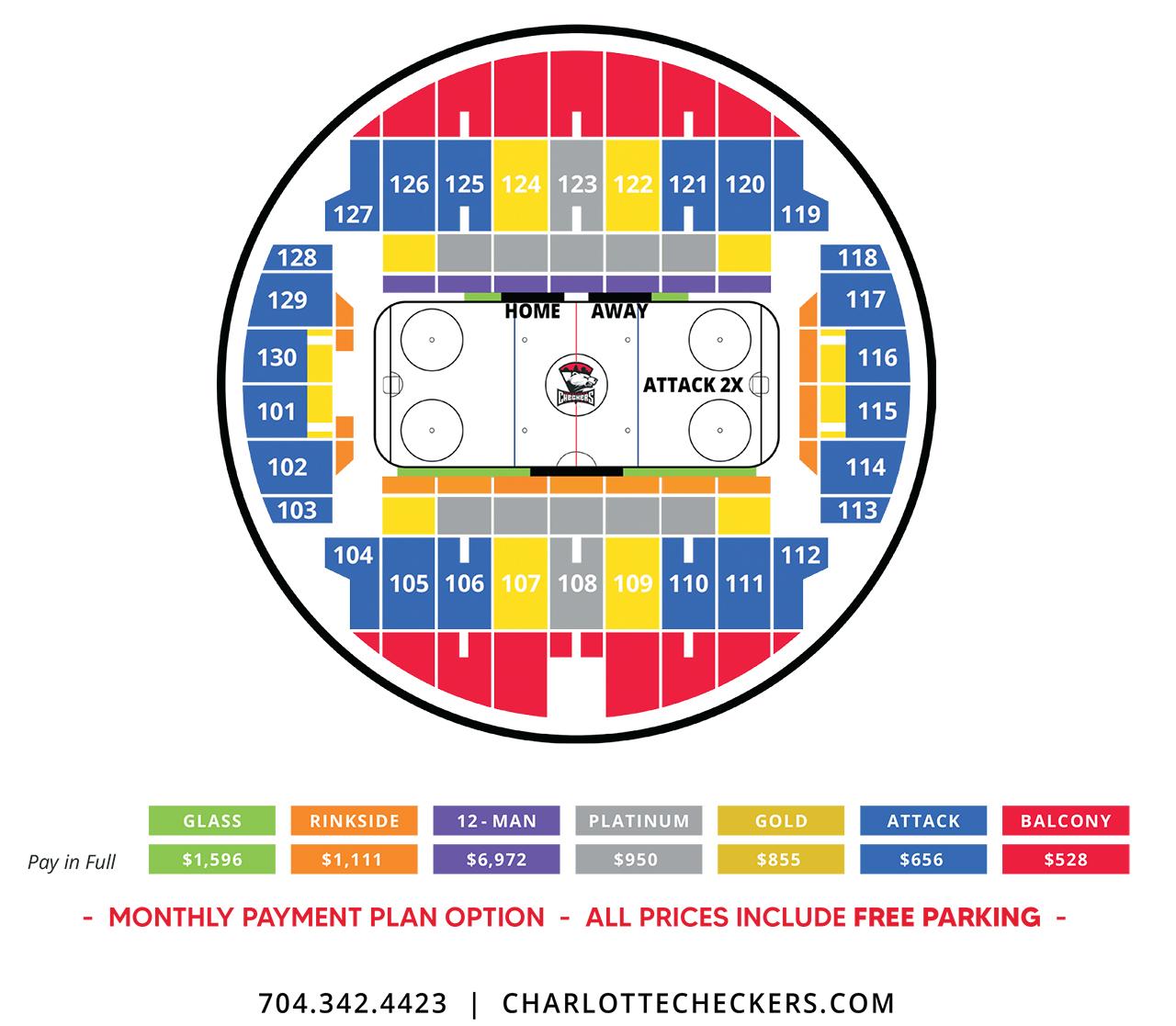 Charlotte Checkers season ticket pricing